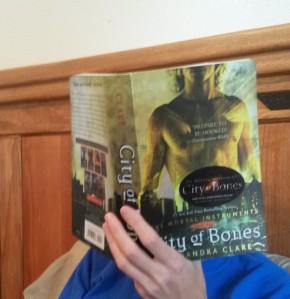 Me Reading City of Bones