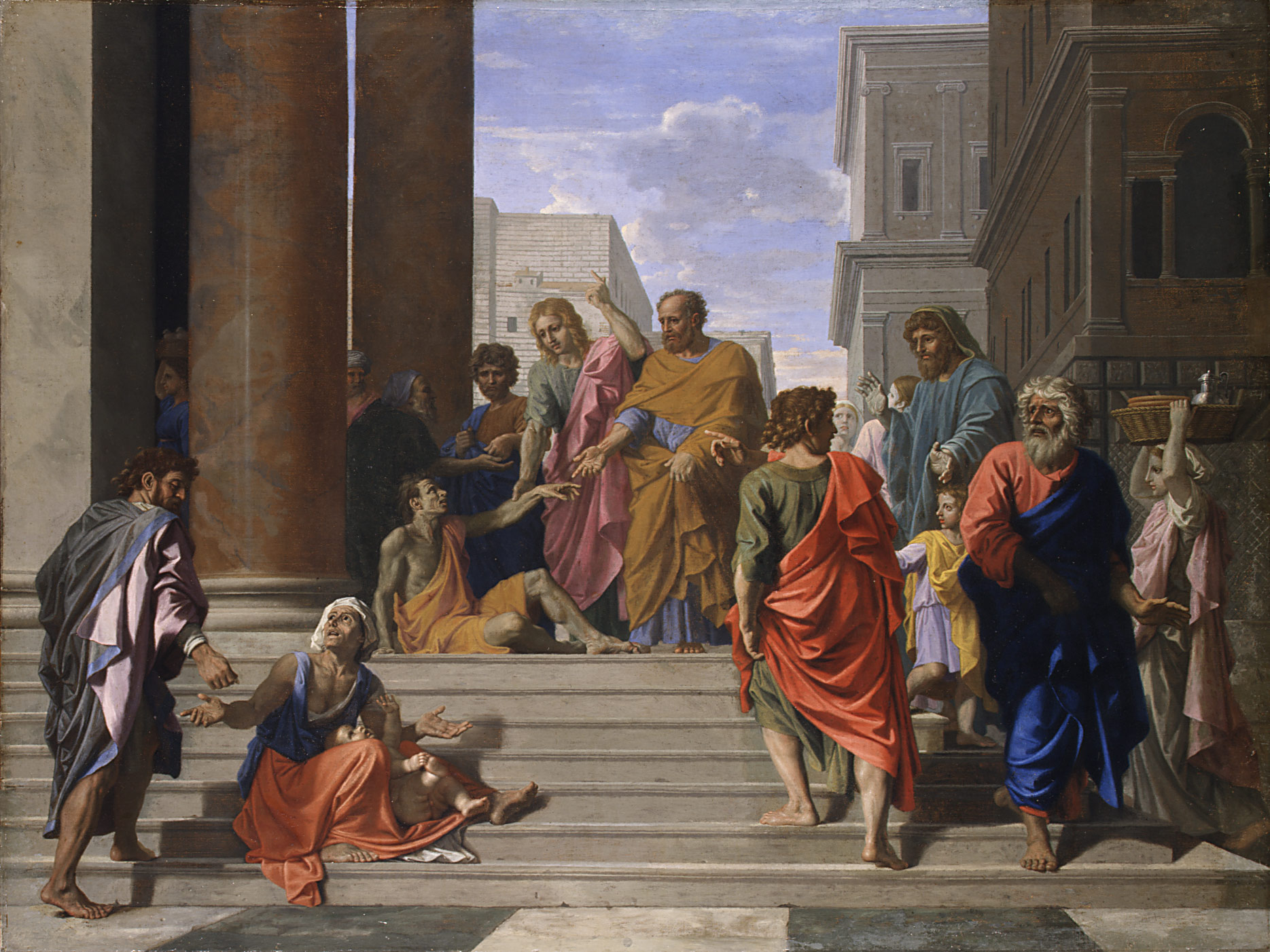 Peter Healing the Man at Temple