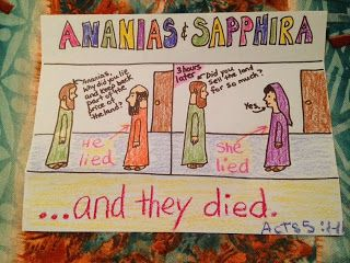 death of ananias and sapphira