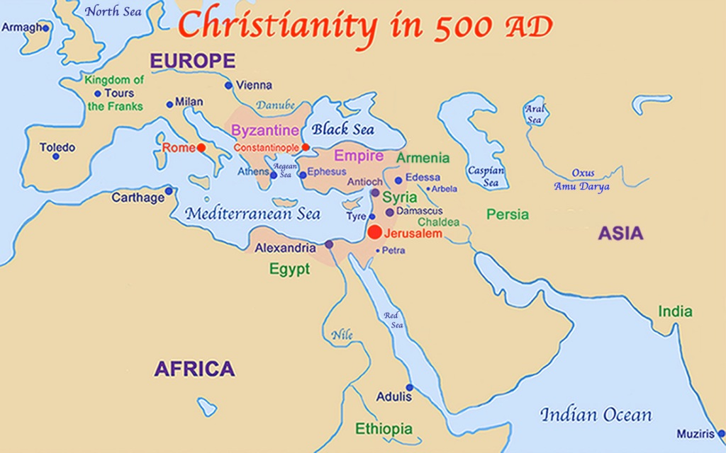 map of christianity