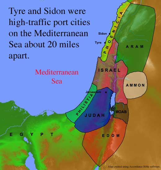 map of Tyre and Sidon atozmomm