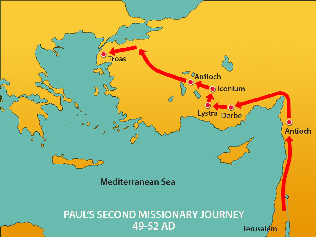 Paul's second missionary journey atozmomm.com
