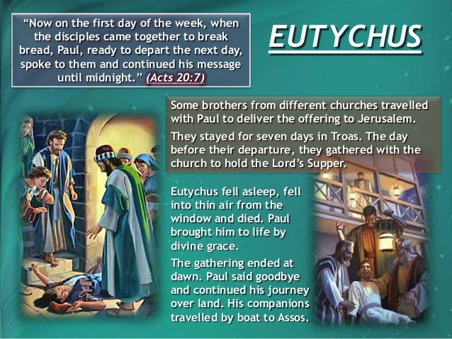 Eutychus in the bible atozmomm.com