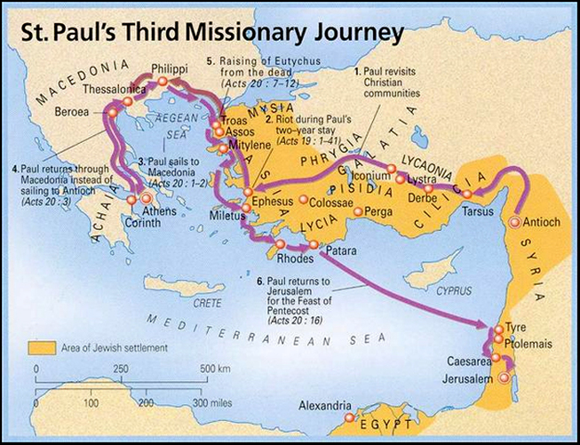 map of paul's third missionary journey troas atozmomm.com