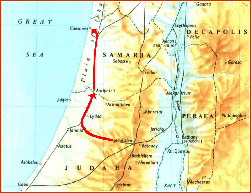 map of antipatris and caesarea